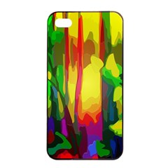 Abstract Vibrant Colour Botany Apple Iphone 4/4s Seamless Case (black) by Celenk