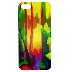 Abstract Vibrant Colour Botany Apple Iphone 5 Hardshell Case With Stand by Celenk