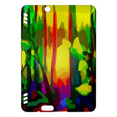 Abstract Vibrant Colour Botany Kindle Fire Hdx Hardshell Case by Celenk