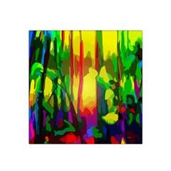 Abstract Vibrant Colour Botany Satin Bandana Scarf