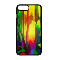 Abstract Vibrant Colour Botany Apple Iphone 7 Plus Seamless Case (black) by Celenk