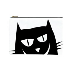 Cat Vector Clipart Figure Animals Cosmetic Bag (large)  by Celenk
