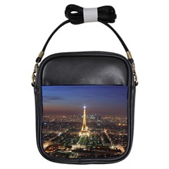 Paris At Night Girls Sling Bags by Celenk