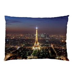 Paris At Night Pillow Case (two Sides) by Celenk