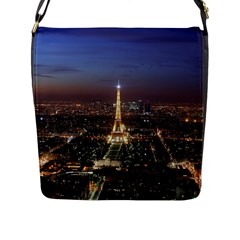 Paris At Night Flap Messenger Bag (l)  by Celenk