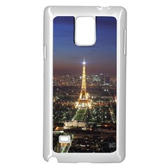 Paris At Night Samsung Galaxy Note 4 Case (white) by Celenk