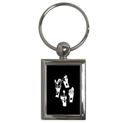 Kiss Band Logo Key Chains (rectangle)  by Celenk