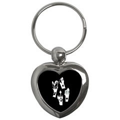 Kiss Band Logo Key Chains (heart)  by Celenk
