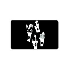 Kiss Band Logo Magnet (name Card) by Celenk