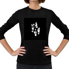 Kiss Band Logo Women s Long Sleeve Dark T Shirts