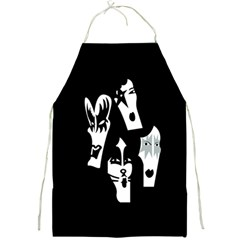 Kiss Band Logo Full Print Aprons by Celenk