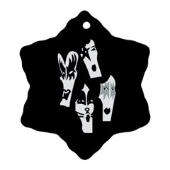 Kiss Band Logo Ornament (snowflake) by Celenk
