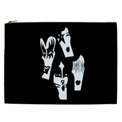 Kiss Band Logo Cosmetic Bag (xxl)  by Celenk