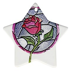 Beauty And The Beast Rose Star Ornament (two Sides)