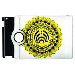 Bassnectar Sunflower Apple Ipad 2 Flip 360 Case by Celenk