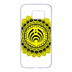 Bassnectar Sunflower Samsung Galaxy S7 Edge White Seamless Case by Celenk