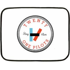 Twenty One Pilots Fleece Blanket (mini) by Celenk