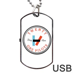 Twenty One Pilots Dog Tag Usb Flash (one Side) by Celenk