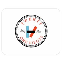 Twenty One Pilots Double Sided Flano Blanket (medium)  by Celenk