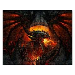 Dragon Legend Art Fire Digital Fantasy Rectangular Jigsaw Puzzl by Celenk