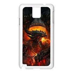 Dragon Legend Art Fire Digital Fantasy Samsung Galaxy Note 3 N9005 Case (white) by Celenk