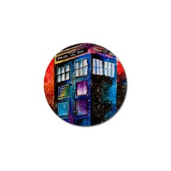 Dr Who Tardis Painting Golf Ball Marker (10 Pack) by Celenk