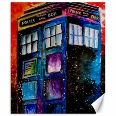Dr Who Tardis Painting Canvas 20  X 24   by Celenk