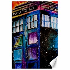 Dr Who Tardis Painting Canvas 20  X 30   by Celenk
