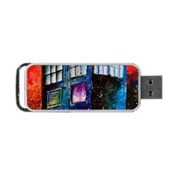 Dr Who Tardis Painting Portable Usb Flash (two Sides) by Celenk