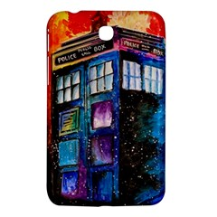 Dr Who Tardis Painting Samsung Galaxy Tab 3 (7 ) P3200 Hardshell Case  by Celenk