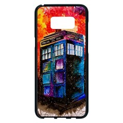 Dr Who Tardis Painting Samsung Galaxy S8 Plus Black Seamless Case by Celenk