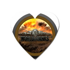 World Of Tanks Wot Heart Magnet by Celenk