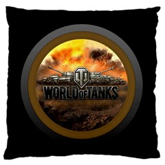 World Of Tanks Wot Large Flano Cushion Case (one Side) by Celenk