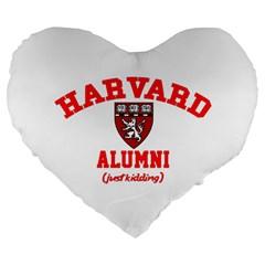 Harvard Alumni Just Kidding Large 19  Premium Flano Heart Shape Cushions by Celenk