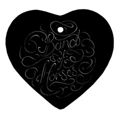 Band Of Horses Ornament (heart) by Celenk