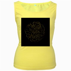 Band Of Horses Women s Yellow Tank Top by Celenk