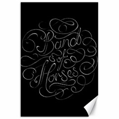 Band Of Horses Canvas 20  X 30   by Celenk