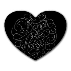 Band Of Horses Heart Mousepads by Celenk