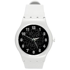 Band Of Horses Round Plastic Sport Watch (m) by Celenk