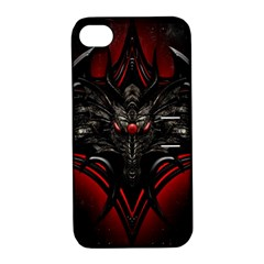 Black Dragon Grunge Apple Iphone 4/4s Hardshell Case With Stand by Celenk