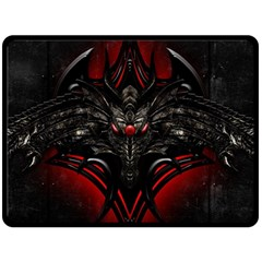 Black Dragon Grunge Double Sided Fleece Blanket (large)  by Celenk
