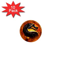 Dragon And Fire 1  Mini Magnet (10 Pack)  by Celenk