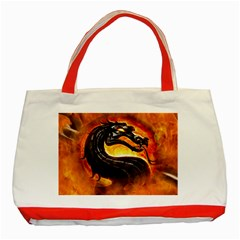 Dragon And Fire Classic Tote Bag (red)