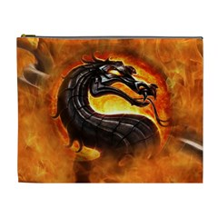 Dragon And Fire Cosmetic Bag (xl)