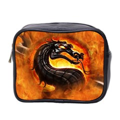 Dragon And Fire Mini Toiletries Bag 2 Side