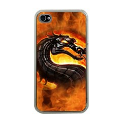 Dragon And Fire Apple Iphone 4 Case (clear) by Celenk