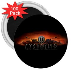 World Of Tanks 3  Magnets (100 Pack) by Celenk