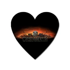 World Of Tanks Heart Magnet