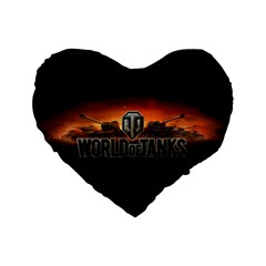 World Of Tanks Standard 16  Premium Heart Shape Cushions by Celenk