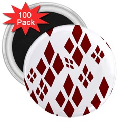 Harley Quinn Logo 3  Magnets (100 Pack) by Celenk